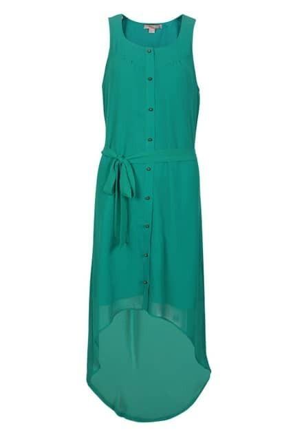 Anomalous Lower Cyan Dress