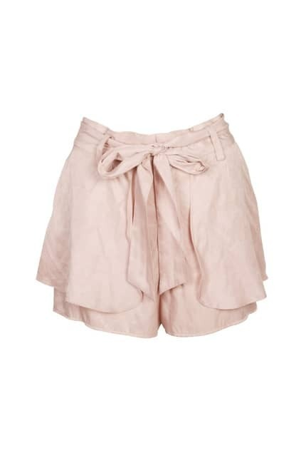 Double Layer Light Pink Shorts
