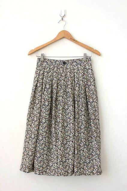 Street Snap Floral Print Skirt