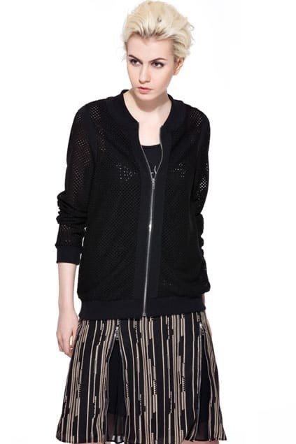 Fishnet Black Sports Jacket