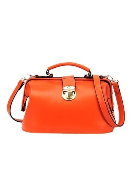 Chic Style Orange Doctor Bag