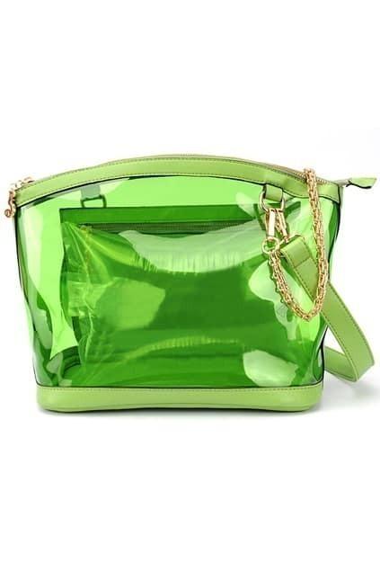 Transparent Green Bag