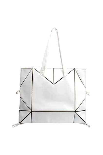 White Montage Handle Bag