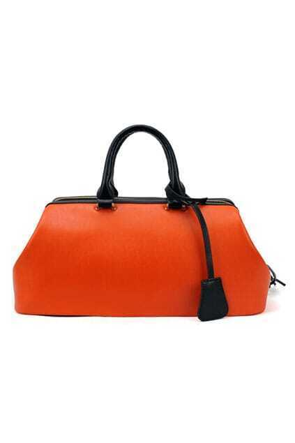 Chic Style Orange Handle Bag