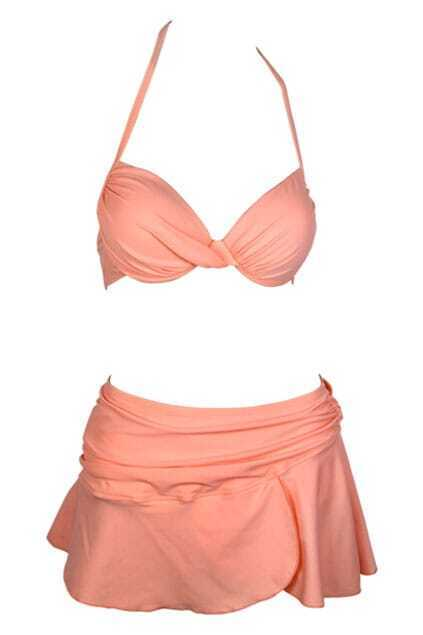 Orange Triangle Bikini Set