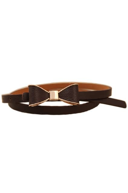 Bowknot BuckleDark Coffee Waist Belt