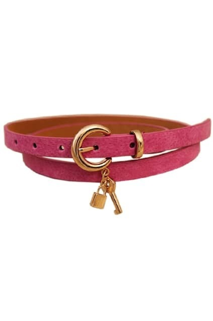 Lock And Key Rose Waist Belt