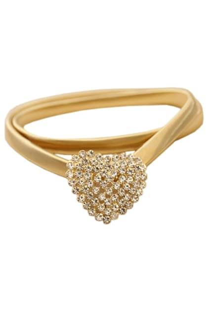 Crystals Love Golden Waist Belt