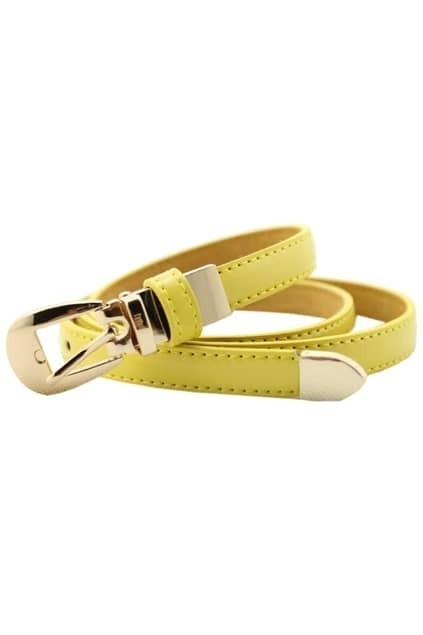Slim Yellow Stitching Waist Belt