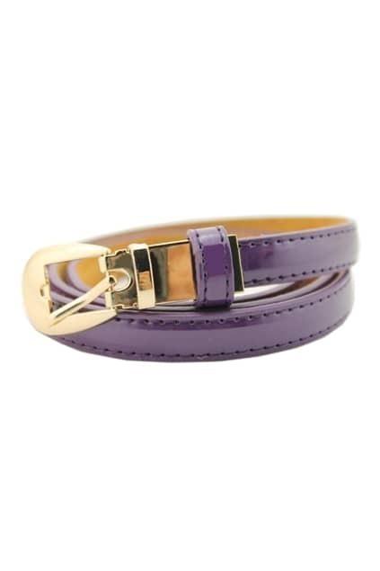 Slim Purple Stitching Waist Belt