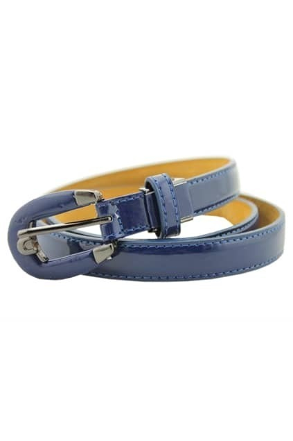 Chic Style Dark Blue Stitching Belt