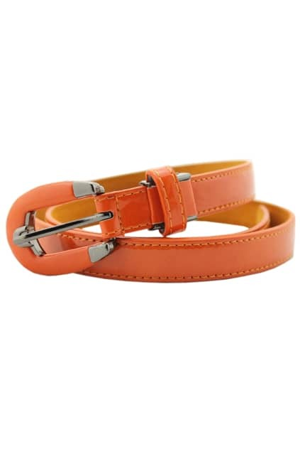 Chic Style Orange Stitching Belt
