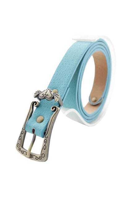Retro Style Sky Blue Waist Belt