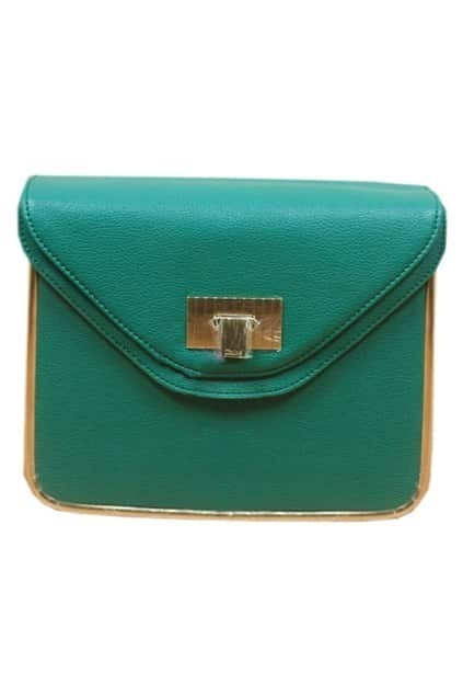 Retro Chain Textured Green Bag