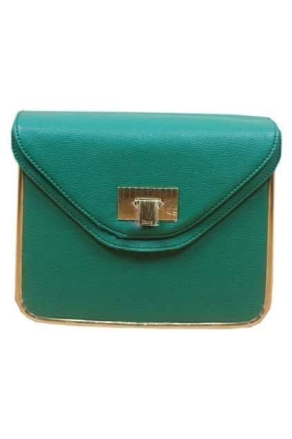 Retro Chain Textured Green Bag