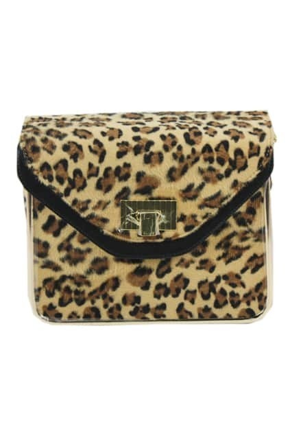 Retro Chain Textured Leopard Bag