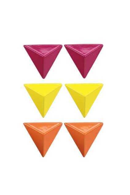 Stereo Triangle Stud Earrings