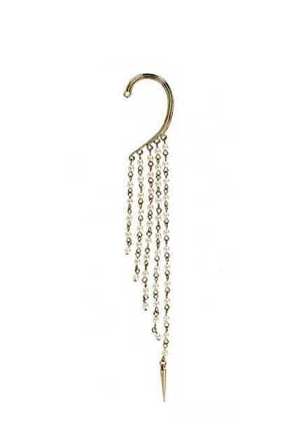 Pearls Chains Single Golden Earring Hook