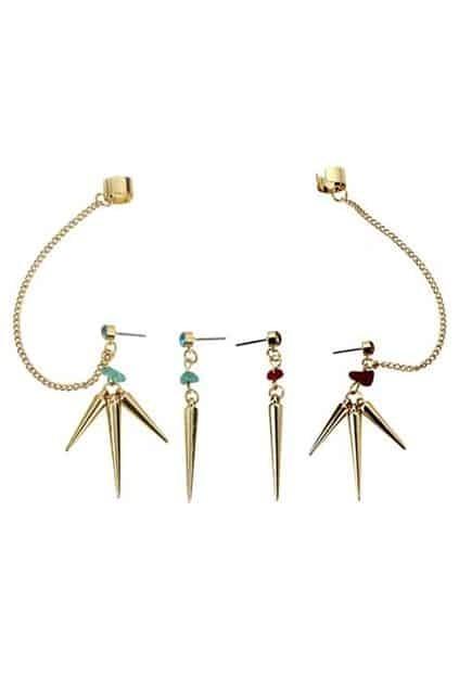 Asymmetric Spikes Earrings