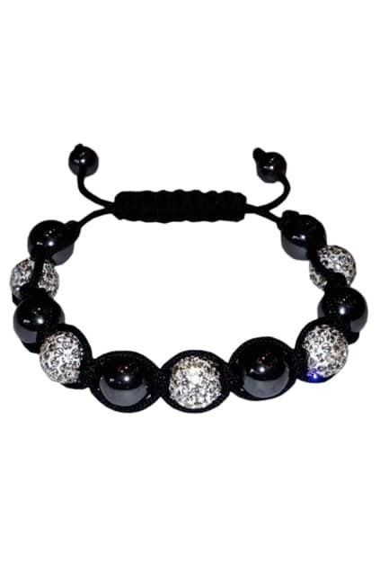 Magnetic Hematite Beads And Crystals Bracelet