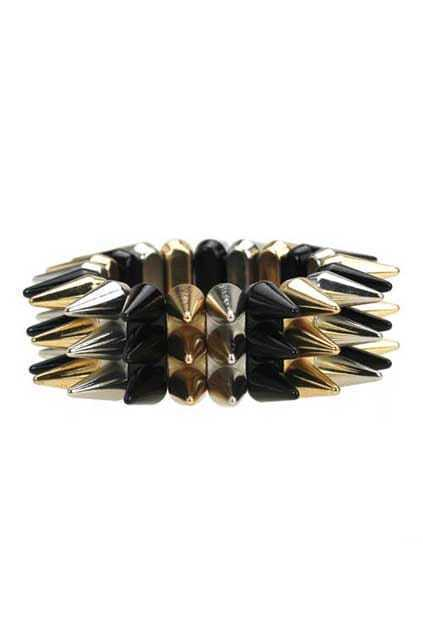 Three Colors Multilevels Spike Bracelet