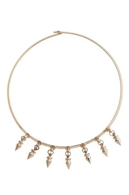 Tapered Spike Choker Necklace