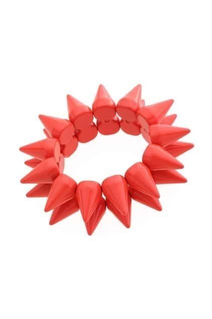 Multi-spike Elastic Red Bracelet
