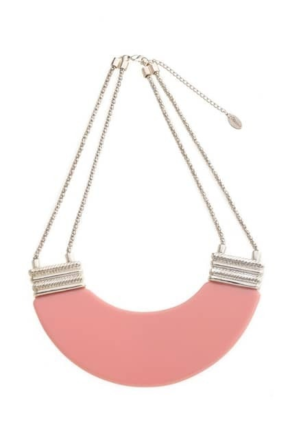 Pink Panel Short Necklace