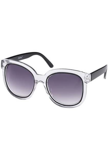 Transparent Frame Rounded Sunglasses