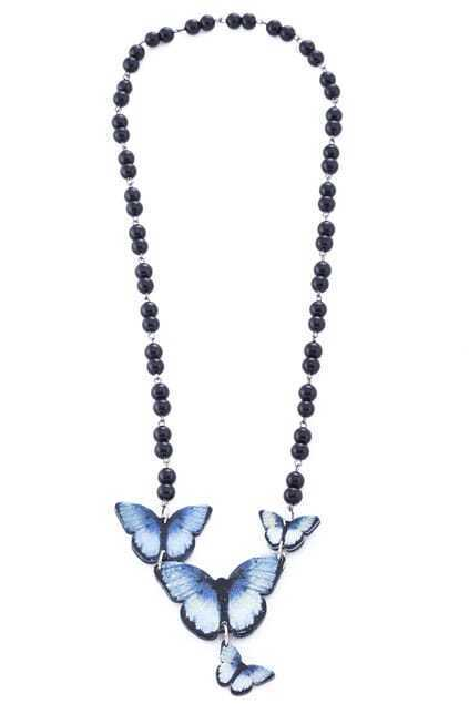 Butterfly Charm Beaded Necklace