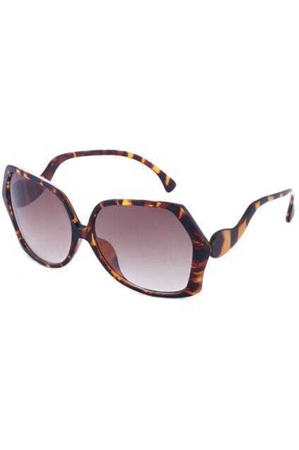 Leopard Frames Sunglasses