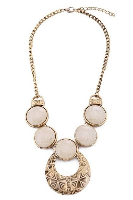 Multi-stone Charm Necklace
