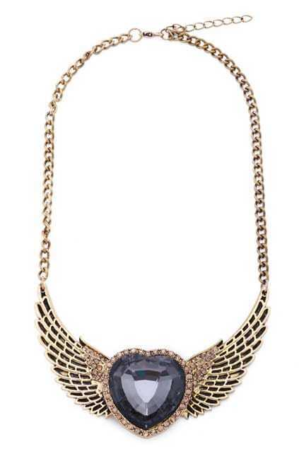 Wing Charm Gold-tone Necklace
