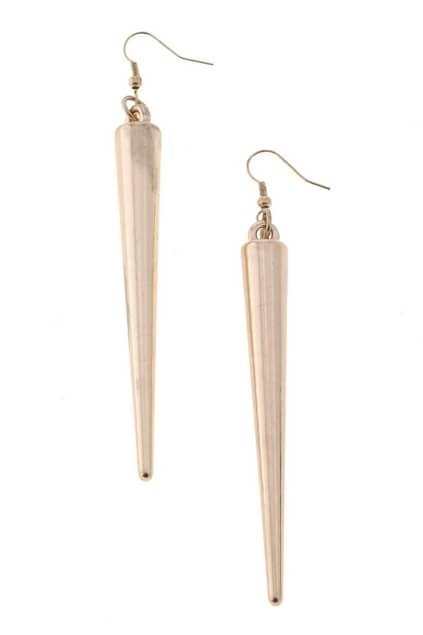 Gold-tone Spike Drop Earrings