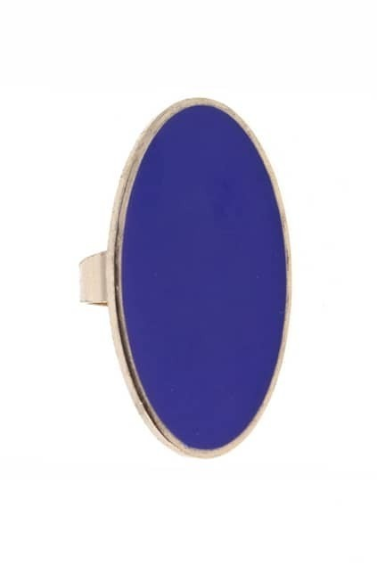 Oval Royal Blue Ring