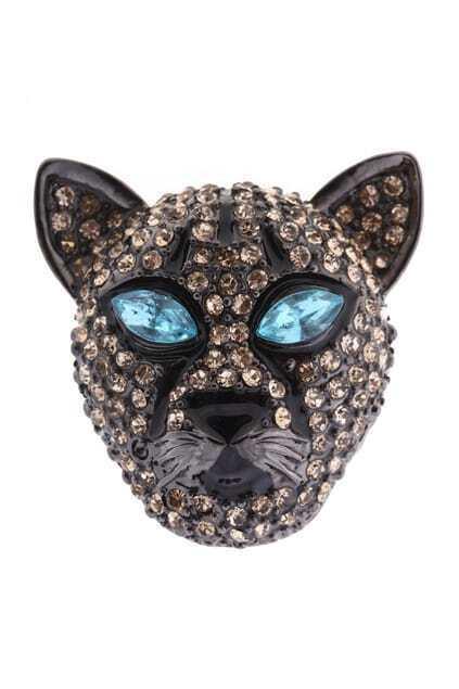 Leopard Head Diamond Ring
