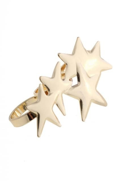 Stars Design Three Finger Ring