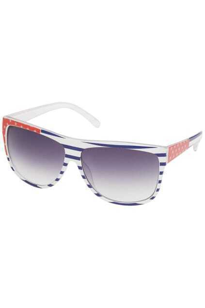 Flag Frames Striped Sunglasses
