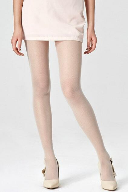 Rose Lace Mixing Grain Cream Tights