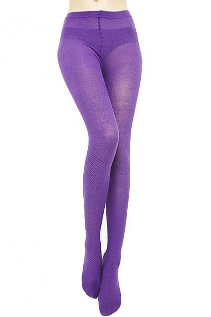 Winding Pattern Purple Tights