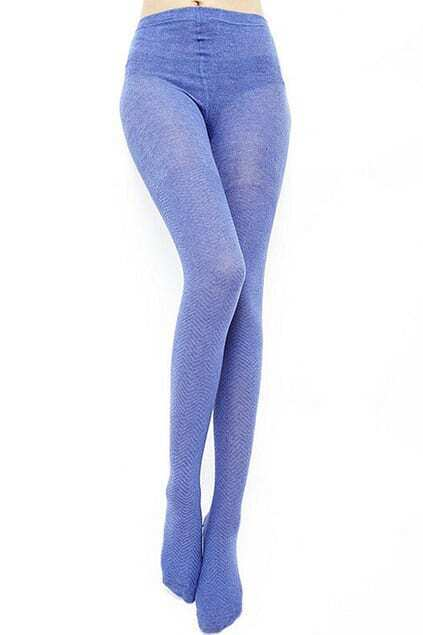 Winding Pattern  Light Blue Tights