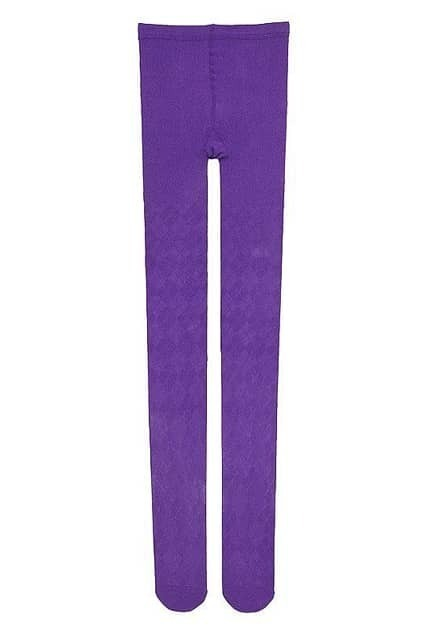 Rhombic Grain Purple Tights
