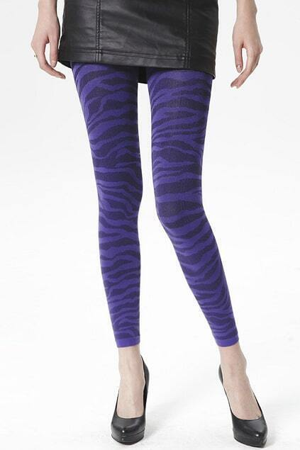 Tiger Stripes Purple Tights