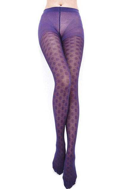 Magic Dots Gauze Purple Tights
