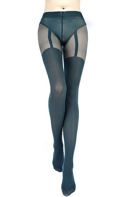 Sexy T-shaped Greenblack Tights