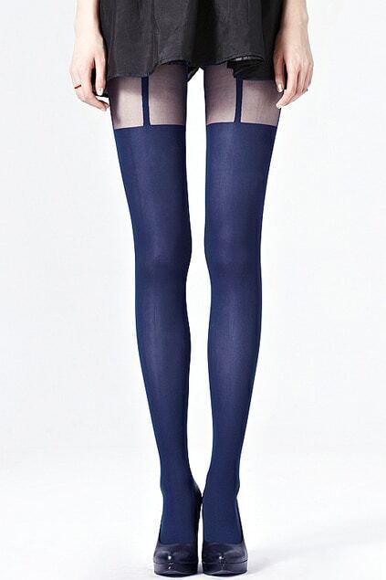 Sexy T-shaped Dark Blue Tights