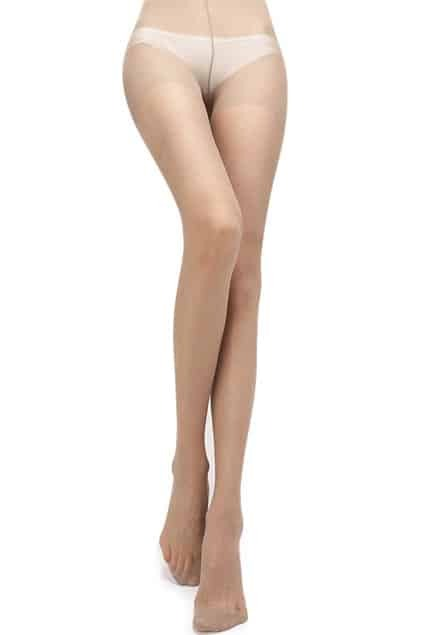 Soft Large Check Skin Tone Tights