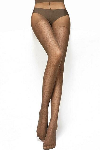 Soft Leopard Dark Coffee Tights