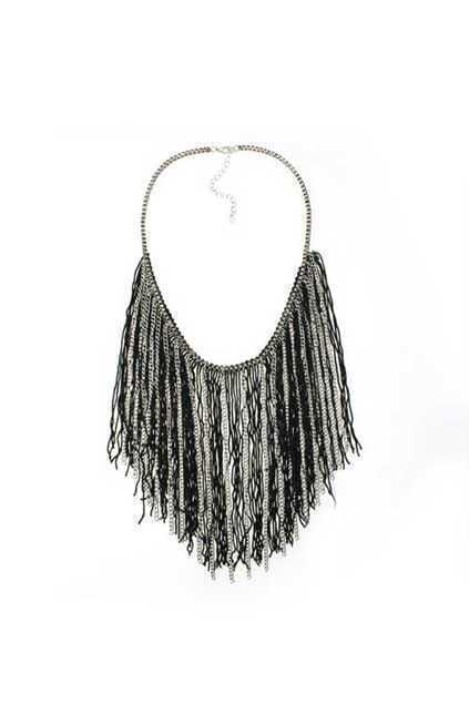 Exaggerated Tassels Pendant Necklace