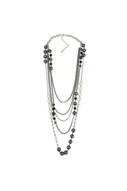 Multilevels Pearls And Beads Necklace